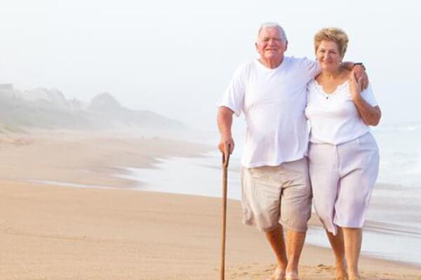 Older Couple on Beach