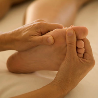 Close-up Foot Massage